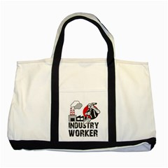 Industry Worker  Two Tone Tote Bag by Valentinaart