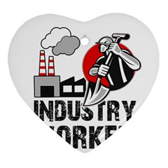 Industry Worker  Heart Ornament (two Sides) by Valentinaart