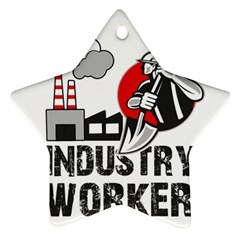 Industry Worker  Star Ornament (two Sides) by Valentinaart