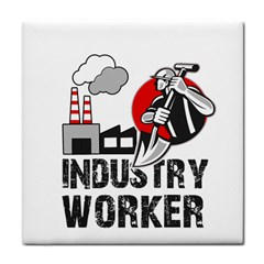 Industry Worker  Face Towel by Valentinaart
