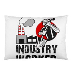 Industry Worker  Pillow Case by Valentinaart