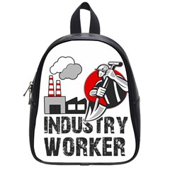 Industry Worker  School Bags (small)  by Valentinaart