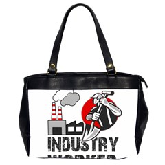 Industry Worker  Office Handbags (2 Sides)  by Valentinaart