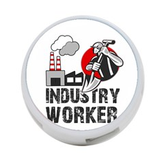 Industry Worker  4 Port Usb Hub (two Sides)  by Valentinaart
