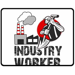 Industry Worker  Fleece Blanket (medium)  by Valentinaart