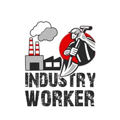 Industry Worker  Shower Curtain 48  X 72  (small)  by Valentinaart