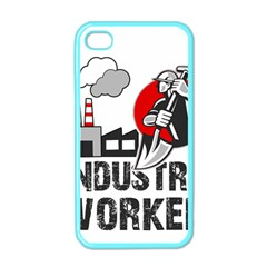 Industry Worker  Apple Iphone 4 Case (color) by Valentinaart