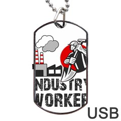 Industry Worker  Dog Tag Usb Flash (two Sides) by Valentinaart