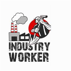 Industry Worker  Large Garden Flag (two Sides) by Valentinaart
