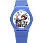 Industry worker  Round Plastic Sport Watch (S) Front