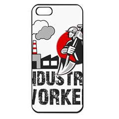 Industry Worker  Apple Iphone 5 Seamless Case (black) by Valentinaart