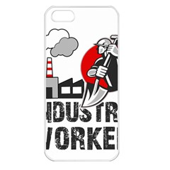 Industry Worker  Apple Iphone 5 Seamless Case (white) by Valentinaart
