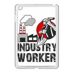 Industry Worker  Apple Ipad Mini Case (white) by Valentinaart