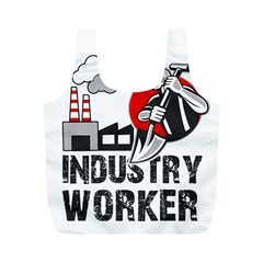 Industry Worker  Full Print Recycle Bags (m)  by Valentinaart