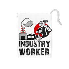 Industry Worker  Drawstring Pouches (medium)  by Valentinaart