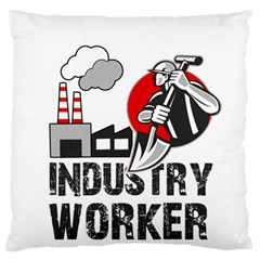 Industry Worker  Large Flano Cushion Case (two Sides) by Valentinaart