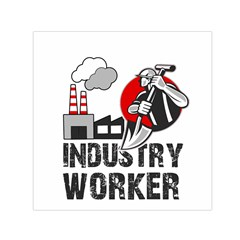 Industry Worker  Small Satin Scarf (square) by Valentinaart
