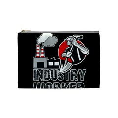Industry Worker  Cosmetic Bag (medium)  by Valentinaart