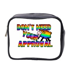 Dont Need Your Approval Mini Toiletries Bag 2 Side by Valentinaart