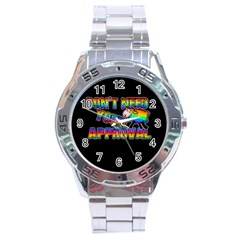 Dont Need Your Approval Stainless Steel Analogue Watch by Valentinaart