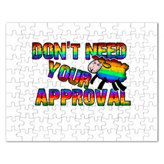 Dont Need Your Approval Rectangular Jigsaw Puzzl by Valentinaart