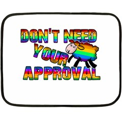 Dont Need Your Approval Fleece Blanket (mini) by Valentinaart