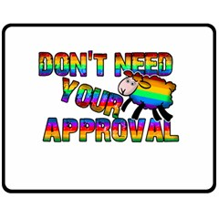Dont Need Your Approval Double Sided Fleece Blanket (medium)  by Valentinaart