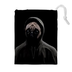 Gangsta Pug Drawstring Pouches (extra Large)