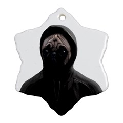 Gangsta Pug Snowflake Ornament (two Sides)
