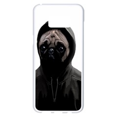 Gangsta Pug Samsung Galaxy S8 Plus White Seamless Case by Valentinaart