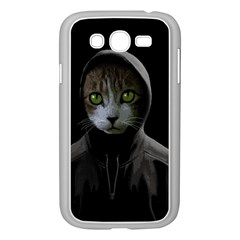 Gangsta Cat Samsung Galaxy Grand Duos I9082 Case (white) by Valentinaart