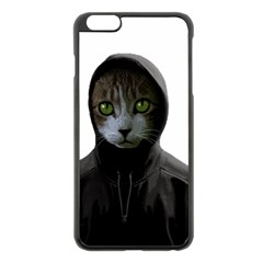 Gangsta Cat Apple Iphone 6 Plus/6s Plus Black Enamel Case