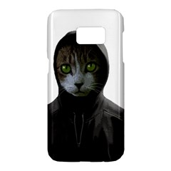 Gangsta Cat Samsung Galaxy S7 Hardshell Case  by Valentinaart