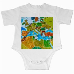 World Map Infant Creepers