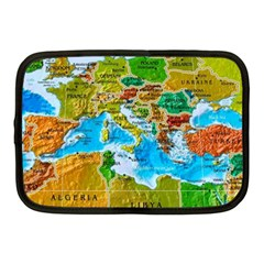 World Map Netbook Case (medium)