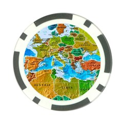 World Map Poker Chip Card Guard (10 Pack) by BangZart