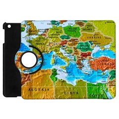 World Map Apple Ipad Mini Flip 360 Case by BangZart