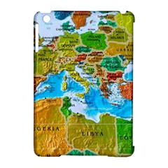 World Map Apple Ipad Mini Hardshell Case (compatible With Smart Cover)