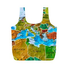 World Map Full Print Recycle Bags (m)