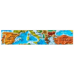 World Map Flano Scarf (small) by BangZart