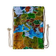 World Map Drawstring Bag (small)