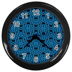 Triangle Knot Blue And Black Fabric Wall Clocks (black) by BangZart