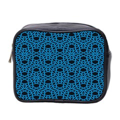 Triangle Knot Blue And Black Fabric Mini Toiletries Bag 2 Side by BangZart