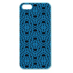 Triangle Knot Blue And Black Fabric Apple Seamless Iphone 5 Case (color)