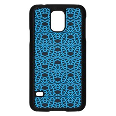 Triangle Knot Blue And Black Fabric Samsung Galaxy S5 Case (black) by BangZart