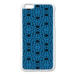 Triangle Knot Blue And Black Fabric Apple Iphone 6 Plus/6s Plus Enamel White Case