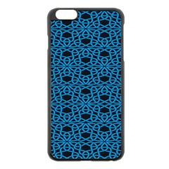 Triangle Knot Blue And Black Fabric Apple Iphone 6 Plus/6s Plus Black Enamel Case