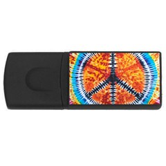 Tie Dye Peace Sign Rectangular Usb Flash Drive
