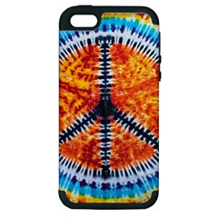 Tie Dye Peace Sign Apple Iphone 5 Hardshell Case (pc+silicone) by BangZart