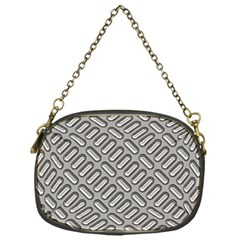 Grey Diamond Metal Texture Chain Purses (one Side)  by BangZart